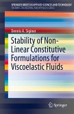 Stability of Non-Linear Constitutive Formulations for Viscoelastic Fluids (eBook, PDF)