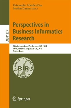 Perspectives in Business Informatics Research (eBook, PDF)