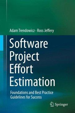 Software Project Effort Estimation (eBook, PDF) - Trendowicz, Adam; Jeffery, Ross