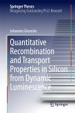 Quantitative Recombination and Transport Properties in Silicon from Dynamic Luminescence (eBook, PDF)