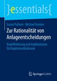 Zur Rationalität von Anlageentscheidungen (eBook, PDF)