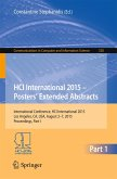 HCI International 2015 - Posters' Extended Abstracts (eBook, PDF)