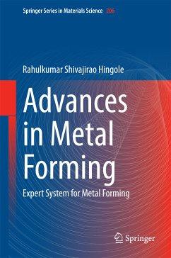 Advances in Metal Forming (eBook, PDF) - Hingole, Rahulkumar Shivajirao
