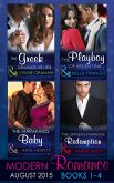 Modern Romance August Books 1-4: The Greek Demands His Heir (The Notorious Greeks, Book 1) / The Sinner's Marriage Redemption (Seven Sexy Sins, Book 5) / The Marakaios Baby (The Marakaios Brides, Book 2) / The Playboy of Argentina (eBook, ePUB)