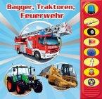 Bagger, Traktoren, Feuerwehr, m. Soundeffekten