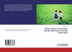 Weak forms of function words with focus on the word that