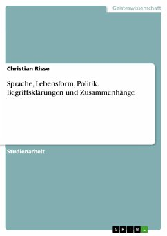 Sprache, Lebensform, Politik. Begriffsklärungen und Zusammenhänge