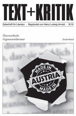 TEXT+KRITIK Sonderband - Österreichische Gegenwartsliteratur (eBook, PDF)