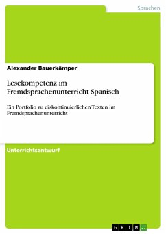 Lesekompetenz im Fremdsprachenunterricht Spanisch