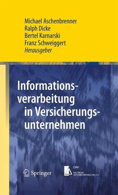 Informationsverarbeitung in Versicherungsunternehmen (eBook, PDF)
