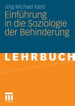 Einführung in die Soziologie der Behinderung (e...