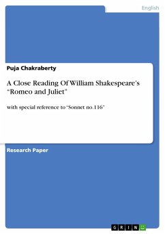 A Close Reading Of William Shakespeare's