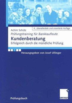 Kundenberatung (eBook, PDF) - Schütz, Achim