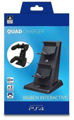 QUAD-Charger für PS4 Dualshock Controller inkl. Netzteil - Schwarz