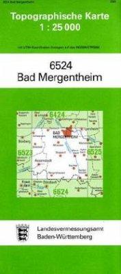 Topographische Karte Baden-Württemberg Bad Merg...