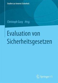 Evaluation von Sicherheitsgesetzen (eBook, PDF)