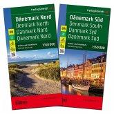 Freytag & Berndt Auto + Freizeitkarte Dänemark Nord/Süd, Autokarte 1:150.000, 2 Bl.; Denmark North/South / Danmark Nord