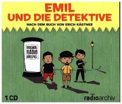 Emil und die Detektive, 1 Audio-CD - Kästner, Erich