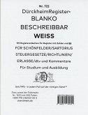 DürckheimRegister® BLANKO-WEISS beschreibbar für Gesetzessammlungen Nr. 722