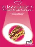 20 Jazz Greats Playalong For Alto Saxophone