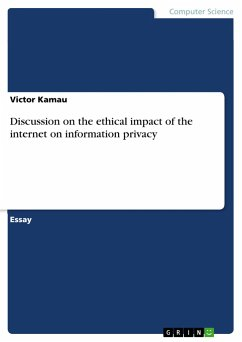 Discussion on the ethical impact of the internet on information privacy