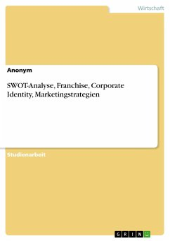 SWOT-Analyse, Franchise, Corporate Identity, Marketingstrategien