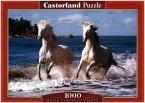 Weiße Camargue-Pferde (Puzzle)