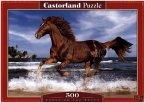 Pferd am Strand (Puzzle)