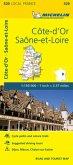 Cote-d'Or, Saone-et-Loire - Michelin Local Map 320