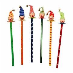 Small Foot Company 1818 - Buntstifte Clowns, 6er Set
