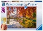 Ravensburger 13672 - Mühle am Blautopf, Puzzle 500 Teile, Gold Edition
