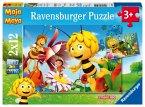 Ravensburger 07594 - Biene Maja auf der Blumenwiese, Puzzle, 2 x 12 Teile