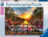 Ravensburger 19606 - Fahrräder in Amsterdam, 1000 Teile Puzzle