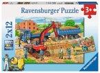 Ravensburger 07589 - Hausbau auf der Baustelle, 2 x 12 Teile