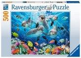 Ravensburger 14710 - Delfine im Korallenriff, Puzzle, 500 Teile