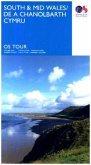 Touring Map South & Mid Wales / De a Chanolbarth Cymru