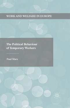 The Political Behaviour of Temporary Workers (eBook, PDF) - Marx, Paul