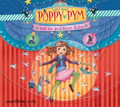 Poppy Pym und der gestohlene Rubin / Poppy Pym Bd.1 (4 Audio-CDs) - Wood, Laura