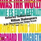 Katharina Thalbach liest William Shakespeare in der Übersetzung von Thomas Brasch, 2 MP3-CDs