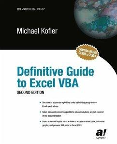 Definitive Guide to Excel VBA (eBook, PDF)