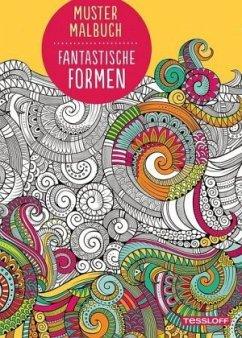 Muster Malbuch Fantastische Formen