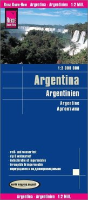 Reise Know-How Landkarte Argentinien / Argentina / Argentine