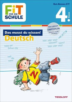 Fit für die Schule: Das musst du wissen! Deutsch 4. Klasse - Gramowski, Kirstin