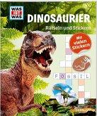 Rätseln und Stickern: Dinosaurier
