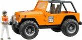 Bruder 02542 Jeep Cross Country racer orange mit Rennfahrer