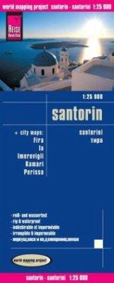 Reise Know-How Landkarte Santorin (1:25.000); Santorini