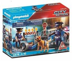 PLAYMOBIL 6878 Polizei-Straßensperre