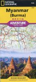 National Geographic Adventure Travel Map Myanmar ( Burma)