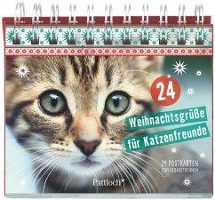 24 Weihnachtsgrüße für Katzenfreunde