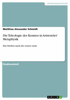 Die Teleologie des Kosmos in Aristoteles' Metaphysik (eBook, PDF)